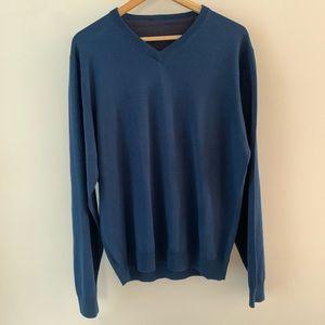 Jos. A. Bank   Blue V Neck Sweater